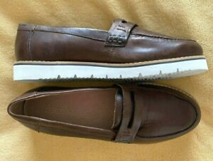 NEW Chocolate Brown Loafers COLORADO Dailey Size 39/40 Leather Upper