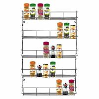4 5 6 Tier Spice Herb Rack Jar Bottle Storage Holder for Kitchen Cupboard Door