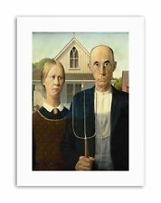 GRANT WOOD AMERICAN GOTHIC Poster Picture Canvas art Prints