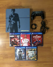 Sony PlayStation 4 Uncharted 4 Limited Edition Bundle 500GB Gray Blue Console