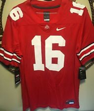 Nike Ohio State Buckeyes Jt Barrett #16 Men's Size Large Red Jersey Football New
