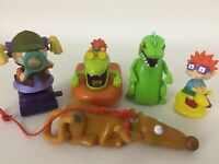 Rugrats Nickelodeon 5pc Lot Chuckie Reptar Angelica Burger King Toy Vintage 1998