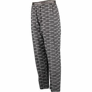CALVIN KLEIN Dark Grey & White Branded Lounge Pants / Pyjama Bottoms. Size XL