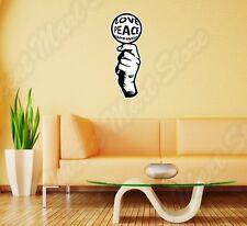 "Peace Love Candy Hand Wall Sticker Room Interior Decor 12""X25"""