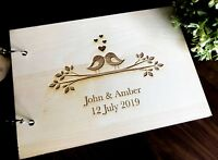 "Personalised ""Love Birds"" Wedding / Engagement Guest Book"