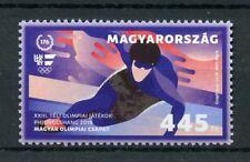 Hungary 2018 MNH Winter Olympics PyeongChang 1v Set Speed Skating Sports Stamps