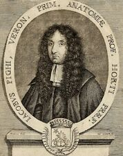 Portrait Medecin Jacobus Jacob Pighi - Gravure 18e Desbois Gall