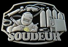 Boucle de Ceinture Soudeur French Welder Welding Tool Equipment Belt Buckle