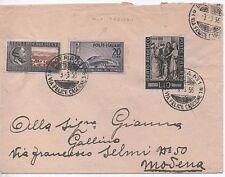 ITALIA 1956 LETTERA CON AFFRANCATURA IN USO TARDIVO DA IMPERIA PER MODENA
