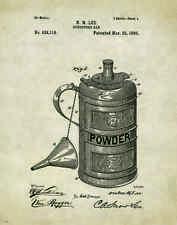 Whitetail Deer Hunting Muzzleloader  Patent Poster Art Print Gun Powder PAT357