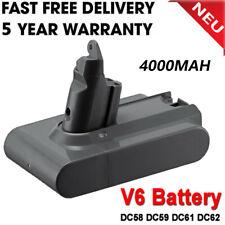 4.0AH Vacuum Cleaner Battery For Dyson 4000mAH V6 DC58 DC62 SV03 SV05 UK Seller