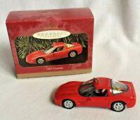 Hallmark Red Chevrolet Corvette Keepsake Christmas Ornament Sports Car 1997