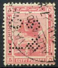 """Egypt 1921-2 SG#90, 5m Pink, """"TC&S"""" Used #D90687"""