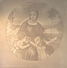 Large CHIAROSCURO WATERMARK by FABRIANO of RAPHAEL'S MADONNA OF THE GOLDFINCH