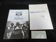 Radiohead 1995 Japan Tour Poster Style Concert Program w Ticket Stub Answerphone