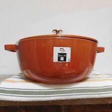 BNIB STAUB Cast Iron French Oven (Pumpkin) 3 3/4 Qt  Burnt Orange FRANCE