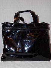 Armani Jeans Black Large Patent Shopper Tote Shoulder Handle Bag