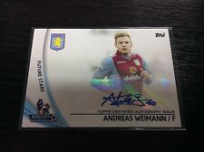 2013-14 Topps English Premier Gold SP-AW Andreas Weimann Auto autograph Villa