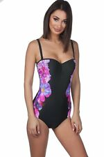 Panache Womens Silhouette Shaping Underwire Black One-Piece Swimsuit