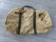"1970s vintage DUFFLE canvas bag SPORTSMAN brown 33x19"" ll bean CAMPING"