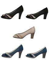 MARY COLLECTION scarpe donna decoltè blu nero beige camoscio