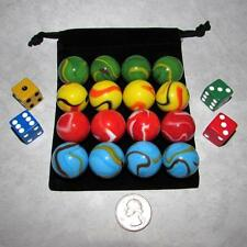 """MO-Marbles Four Player 1"""" Rainbow Aggravation Wahoo Glass Marbles Set 99459091"""
