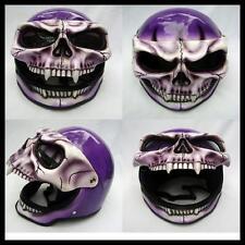 Skeleton Skull  Fullface 3D Airbrush  Motorcycle Helmet - NEW