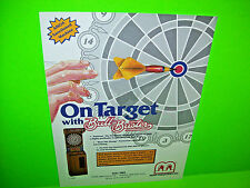 Merit BULL BUSTER Original Vintage 1986 Coin-Op Darts Arcade Game Sales Flyer