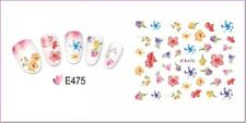 Nail Art Water Decals Stickers Transfers Spring Water Effect Flowers tulips E475