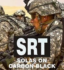 "SRT REFL SOLAS ON CARBON BLACK solasX PATCH 3.5""X2"" WITH VELCRO® BRAND FASTENER"