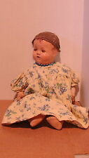 VINTAGE COMPOSITION? BABY DOLL WITH TEETH  - NEEDS TLC -