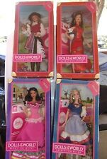 LOT 4 BARBIE DOLLS OF THE WORLD PASSPORT PINK  MEXICO CHINA CHILE HOLLAND