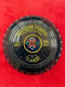 Drakes pride professional bowls size 2 H in Speckled Blue - super condition