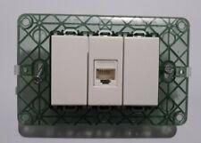 presa di rete dati rj45 cat6 vimar plana bianco con supporto, viti e tappi