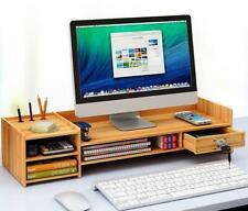 DIY Office Cherry Wood Desk Organizer Storage Computer Desktop Tray With Drawer