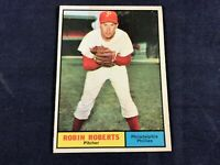 K4-100 BASEBALL CARD - ROBIN ROBERTS PHILADELPHIA PHILLIES - 1961 TOPPS - #20
