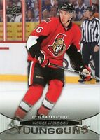 11/12 UPPER DECK YOUNG GUNS ROOKIE RC #231 PATRICK WIERCIOCH SENATORS *32548