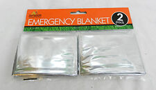 Outdoor Solutions Twin Pack of Emergency ' Space ' Blankets - First Aid Item