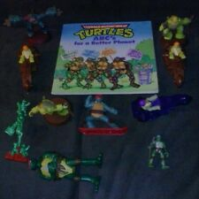 TMNT Vintage lot of 10 toys and 1 book Teenage Mutant Ninja Turtles learn 2 read