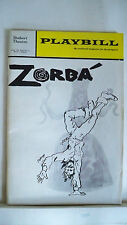 ZORBA Playbill HERSCHEL BERNARDI / MARIA KARNILOVA Tryout BOSTON 1968