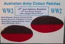WW2 AUSSIE ARMY COLOUR PATCHES MILITIA UNITS - REPRODUCTION