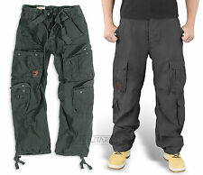 SURPLUS AIRBORNE TROUSERS BLACK RAW VINTAGE SAS CARGO COMBAT PANTS ARMY URBAN