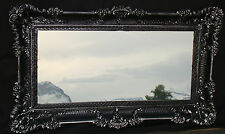 Wandspiegel Barock  Antik DEKO Badspiegel,Schwarz-Silber 97x57,NEU 103074