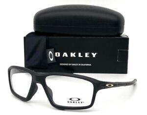 Oakley CROSSLINK ZERO OX8076-0756 Stain Black / Demo Lens 56mm Eyeglasses