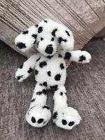 M&S DOG SPOTTY WHITE BLACK SOFT DALMATIAN TOY PLUSH 8645 678 MARKS AND & SPENCER