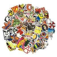 100 Aufkleber / Sticker-bomb Retro-, Graffiti- Style,Tuning Logos & Marken -Set6