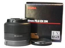 Sigma 30mm 1:2.8 DN EX AF E Lens for Sony E-mount