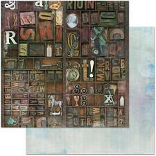 "Bo Bunny Life in Color - HIDDEN TREASURES - 12x12"" d/sided scrapbooking paper"