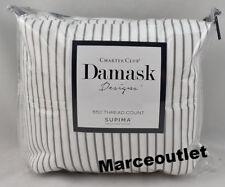 Charter Club Damask Designs 550 Thread Count QUEEN Sheet Set Pinstripe Gray