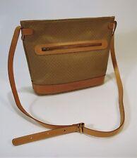 Vintage 1970's Signature ANDRE COURREGES PARIS Tan Leather Crossbody Bag EUC
